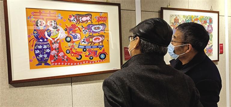 甘肃陇东农民画作品展在兰开展